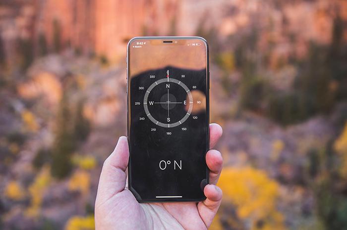 Kompass på mobil